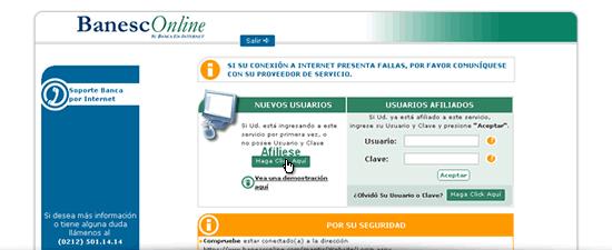 BanescOnline, la Banca en línea Banesco