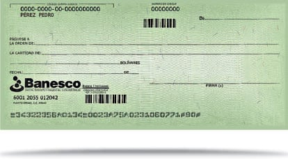 Los cheques Banesco tienen nueva apariencia
