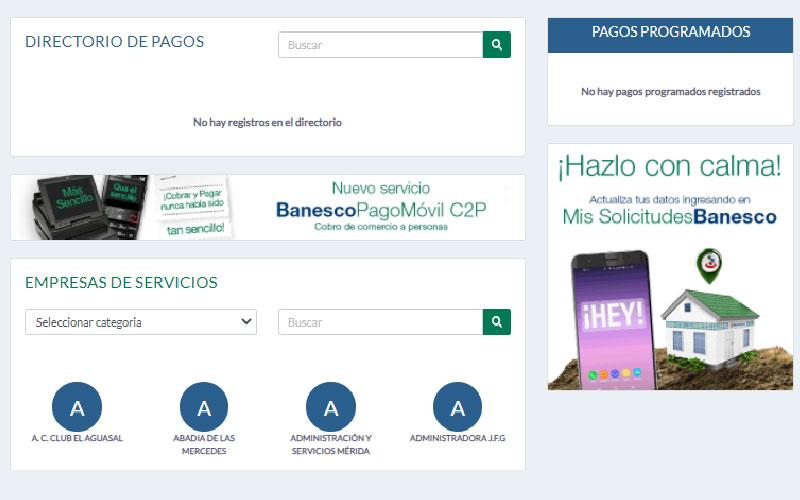Portal de pagos, Multipagos Banesco