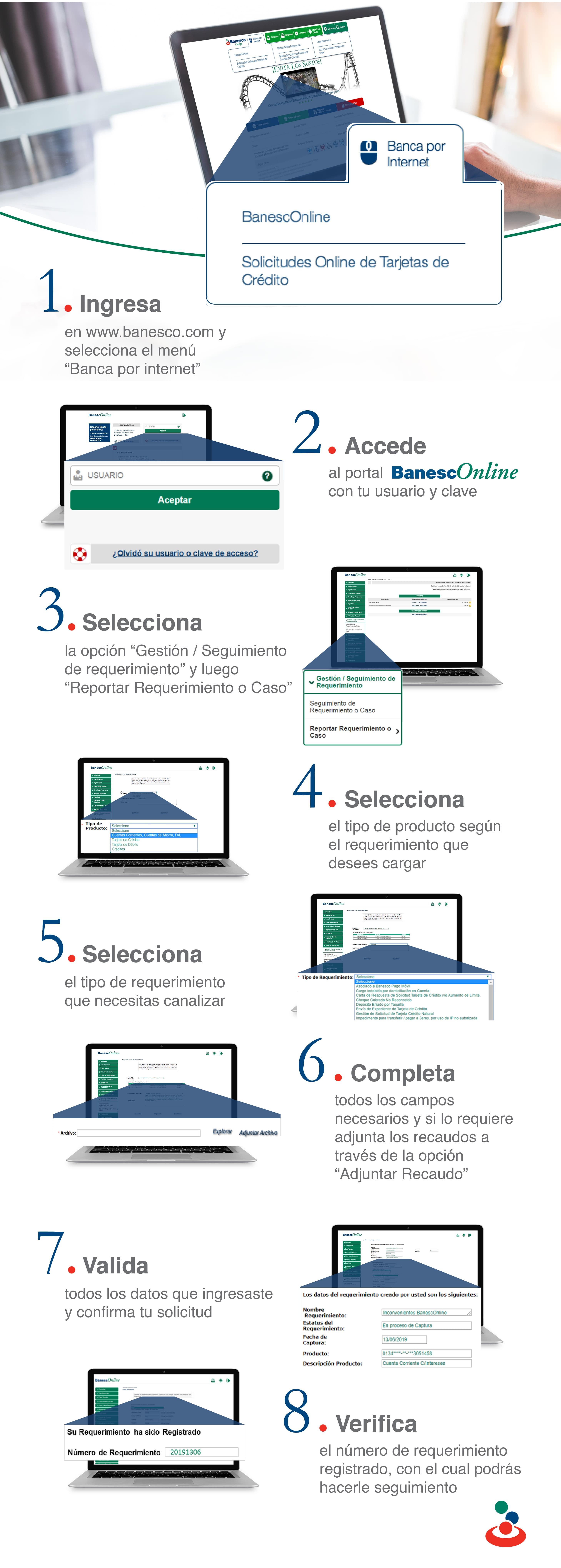 Registro de Reclamos o Requerimientos a través de BanescOnline